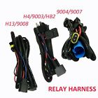 Relay Wiring Harness for High/Low Beam HID Xenon Kit For 9004/9007 H4 H13/9008