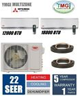 Ymgi 30000 Btu 21 Seer Dual Zone Ductless Mini Split Air Conditioner