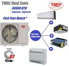 wall mount coil spring compressor - YMGI 30000 BTU 21 SEER DUAL ZONE DUCTLESS MINI SPLIT AIR CONDITIONER