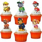 24 x PAW PATROL STAND UP Edible Wafer Cupcake Toppers * PRE CUT *