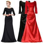 GK New 3/4 Sleeve Lace + Satin Ball Gown Formal Evening Prom Bridesmaids Dress