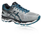 ASICS Gel-Kayano 22 Mens White Blue Support Running Sports Shoes Trainers
