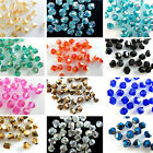 4mm 100pcs AB colorful Bicone glass Fashion crystal beads Multi Color Hot