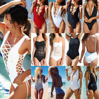 2016 Sexy Women One-Piece Push Up Bikini Padded Monokini Swimsuit Swimwear FO