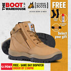 Mongrel 261050 Work Boots. Steel Toe Safety. Zip + Lace-Up.  FREE GIFT OPTION!