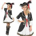 Ladies Buccaneer Girl Fancy Dress Costume Carribean Pirate Halloween Outfit