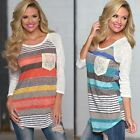 Latest Fashion Women's Casual Loose Tops Long Sleeve T-Shirt Summer Blouse