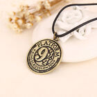 Hot Movie Harry Potter Hogwarts 9 3 4 Unisex Silver Necklaces Pendants With Gift