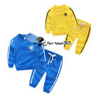 Autumn Spring Baby Boy Child Kids China Letter Coat+Trousers Sports Sets 3-8Y