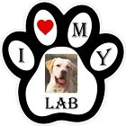Yellow Lab Dog Paw Decal / Sticker
