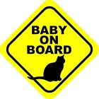 Baby On Board Cat Decals / Stickers