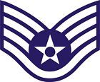 US Air Force USAF Staff Sergeant Rank Insignia Decal / Sticker