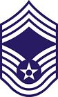 US Air Force USAF Chief Master Sergeant Rank Insignia Decal / Sticker