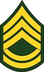 U.S. Army Sergeant 1st Class Rank Insignia Decal / Sticker