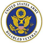 United States Army Disabled Veteran Decal / Sticker