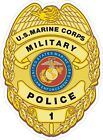 USMC Marine Corps Military Police Badge Decal / Sticker