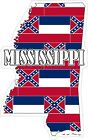 Mississippi Map Flag Decals / Stickers