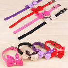 Colourful Bowknot Adjustable PU Leather Collars Necklace For Dog Puppy Pet Cat