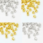 100 x Tiny Metal 4mm Heart Spacer Beads in a Choice of Tibetan Gold & Silver