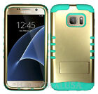 KoolKase Hybrid Silicone Cover Case for Samsung Galaxy S7 - Gold