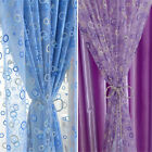 1 Pc Home Shop Display Window Voile Curtain Endless Printed Tube Panel Sheer
