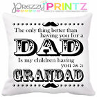 ❤PERSONALISED THE ONLY THING BETTER FATHERS DAY GRANDAD GIFT CUSHION CHRISTMAS ❤