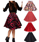 AA Women ladies Pleated Vintage Flower  Skirts Floral Print Midi Skirt dress