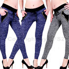 Jeans Stretch Hose breiter Bund harem Jeggings Treggings Leggings Röhre Leggins