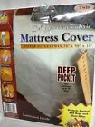 SOFT FABRIC MATTRESS COVER WITH ZIPPER PROTECT YOUR MATTRESS AGAINST BED BUGS