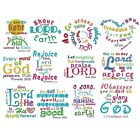 """Heavenly Inspiration Scripture #2 Embroidered Bible Verse Quilt Block 11"""" X 12"""""""