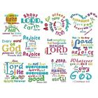 "Heavenly Inspiration Scripture #2 Embroidered Bible Verse Quilt Block 11"" X 12"""