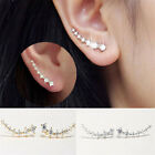 Fashion Women Girl Fashion Rhinestone Crystal Earrings Ear Hook Stud Jewel Gift