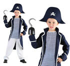 Childrens Pirate Fancy Dress Costume Captain Hook Outfit Book Week 3-10