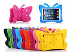 Butterfly Kids Rubber Shock Proof Heavy Duty EVA Foam Stand Case Cover For iPad