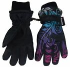 N'Ice Caps Little And Big Girls Ombre Shaded Scroll Print Ski Gloves