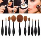 1/10set Toothbrush Shape Eyebrow Foundation Brush Eyeliner Lip Oval Cream Brush