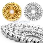 Silver Gold Plated Round Ball Wholesale Spacer Beads Findings 4-8mm 100/500pcs