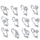 1PC Vouge Women Ladies Plated Silver 12 Constellations Zodiac Sign Opening Rings