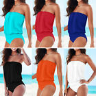 Sexy Womens One Piece Strapless Bikini Swimsuit Swimwear Bandage BodySuit
