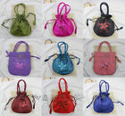 Wholesale 1 PCS Silk Embroidery Flower Sequins Jewelry Gift Bags Handbags