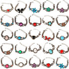 BIG SALE!! Women's Punk Fashion Turquoise Rhinestone Flower Butterfly Bracelets