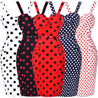 Vintage 50s Bodycon Sexy Swing Pin Up Wiggle Pencil Dress UK 4 8 10 12 14 16 18