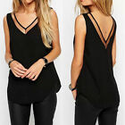 Casual Women V-Neck Vest Summer Loose Chiffon Sleeveless Tank VEST Top Blouse