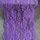 """NEW~ Purple  Stretch Lace 16 cm/6.5""""  Lingerie/Table Runner"""