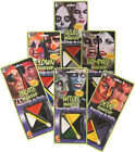 FACE PAINT MIXED COLORS RED WHITE BLACK GREEN YELLOW BLUE PURPLE Makeup Pallet