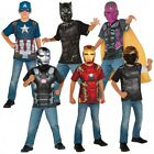 Superhero Costumes Kids Marvel T Shirt Halloween Fancy Dress