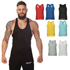 Men's Gym Solid Tank Top Stringer Bodybuilding Fitness Muscle Vests Strong Tops