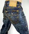 True Religion Men's Ricky Straight Super T Brand Jeans - M859NUP3