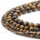 4/6/8/10mm Natural Tiger's Eye Gemstone Round Ball Loose Bead Strand Jewelry DIY