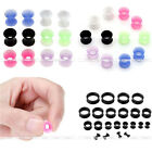 12x Flexible Silicone Flared Ear Tunnel Plug Expander Stretcher Earlets Piercing
